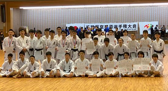 高校空手道部、千葉県空手道選手権大会で上位入賞